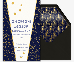 New Year Countdown Invitation