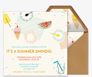 Online Party Invite as good invitation design