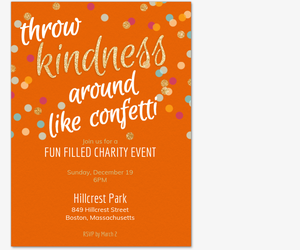 Kindness Confetti General Invite Invitation