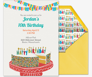 Happiest Birthday Ever Invitation