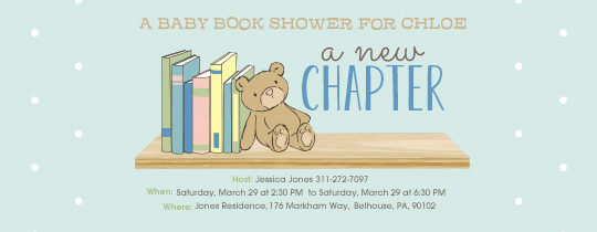 A New Chapter Shower Invitation