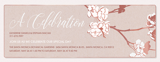 Apple Blooms Celebration Invitation