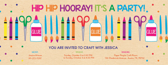 Arts and Crafts Invitation