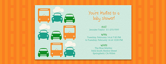 baby shower, boy, bus, buses, car, cars