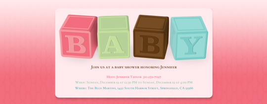 1st, baby, blocks, first, girl, pink, shower