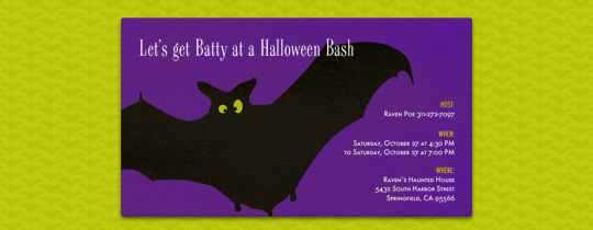 Batty Bash Invitation