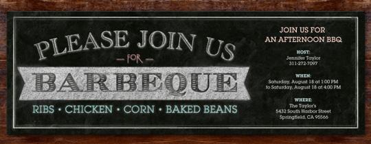 BBQ Board Invitation