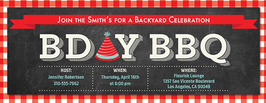 BDay BBQ Invitation