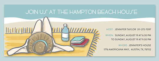 Beach Hampton Tan Invitation