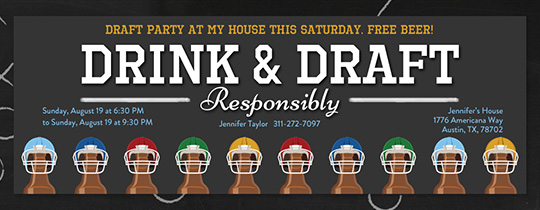 Beer and Draft Invitation
