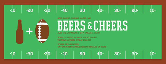 Beers and Cheers Invitation