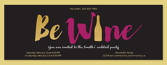 Be Wine Invitation