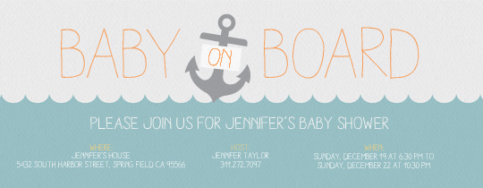 blue, baby, baby shower, anchor, water, nautical,