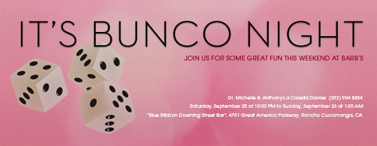 Bunco Night Invitation