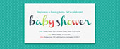 baby, baby shower, boy, bright, coral, girl, turquoise, unisex