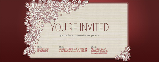 Canopy Invitation