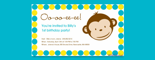 monkeys, monkey, 1st birthday, blue, circles