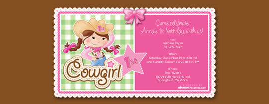 pink, cowgirl, 1st birthday, baby first, girls, birthday