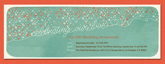 Celebrating Our Love Invitation