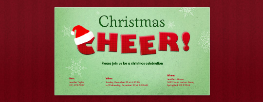 Cheery Christmas Invitation