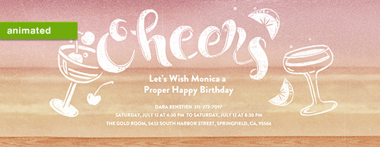 Cherry Lime Cheers Invitation