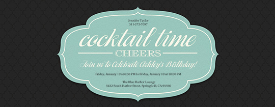 Cocktail Party Invitation Template