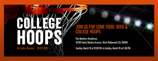 College Hoops Invitation