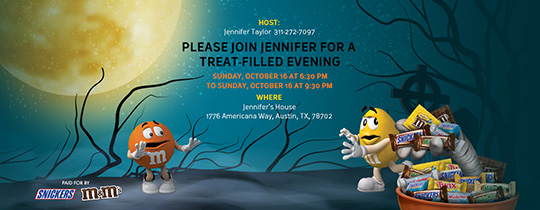 Halloween Treats Invitation