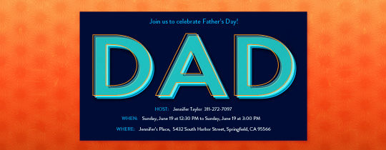 Dad Invitation