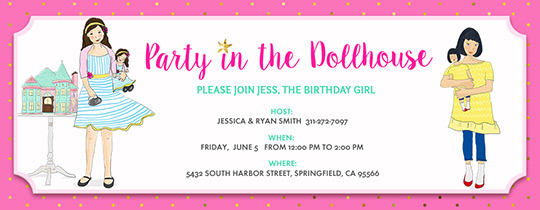 Doll House Party Invitation