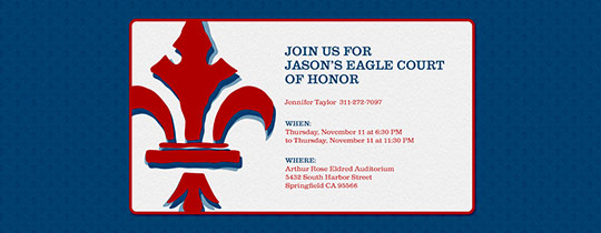 Eagle Scouts Invitation