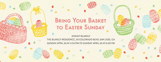 Easter Baskets Invitation