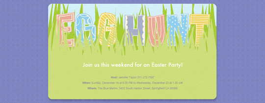 Egg Hunt Invitation
