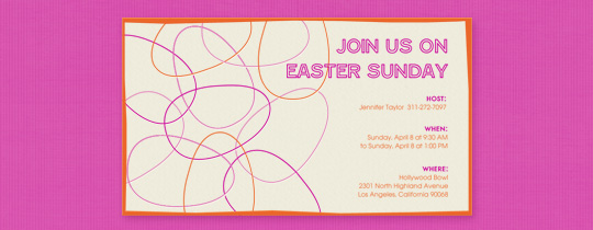 Egg Lines Invitation