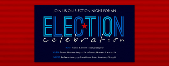 Election Celebration Invitation