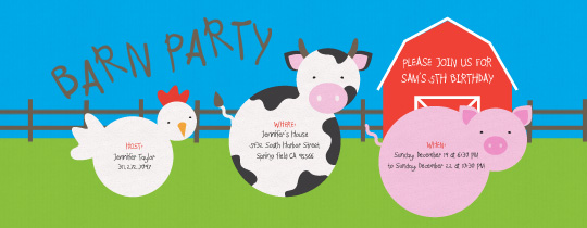 Farm Animals Invitation
