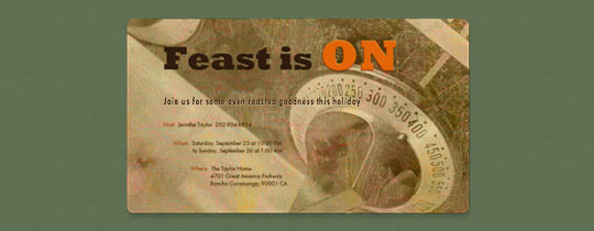 Feast Is On Invitation