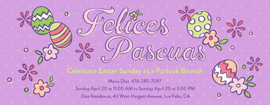 Easter, Eggs, Flowers, Floral, pastel, felices pascuas, potluck, brunch, celebrate, Easter Sunday