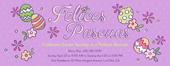 Felices Pascuas Invitation