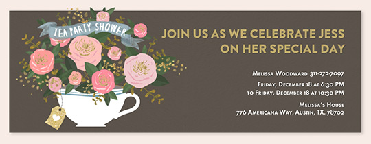 Bridal Shower free online invitations – His and Her Wedding Shower Invitations