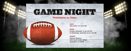 gamenight Invitation