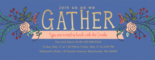 Gather Spray Invitation