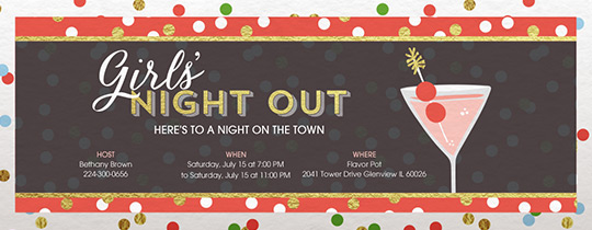 Girls' Night Branded Invitation