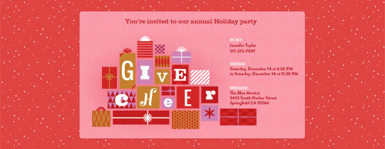 Give Cheer Invitation