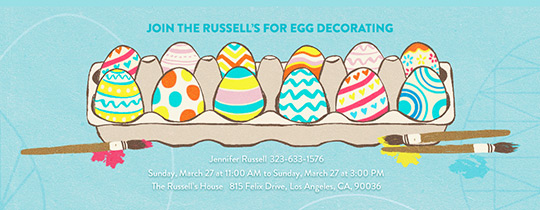Hand Painted Eggs Invitation