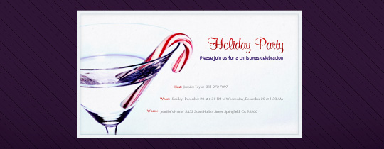Holiday Martini Invitation
