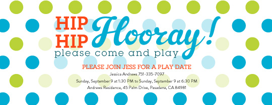 Hooray Play Invitation