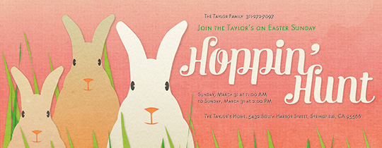 Hoppin' Hunt Invitation