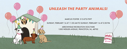 House Pawty Invitation