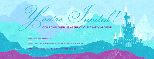 Ice Castle Invitation